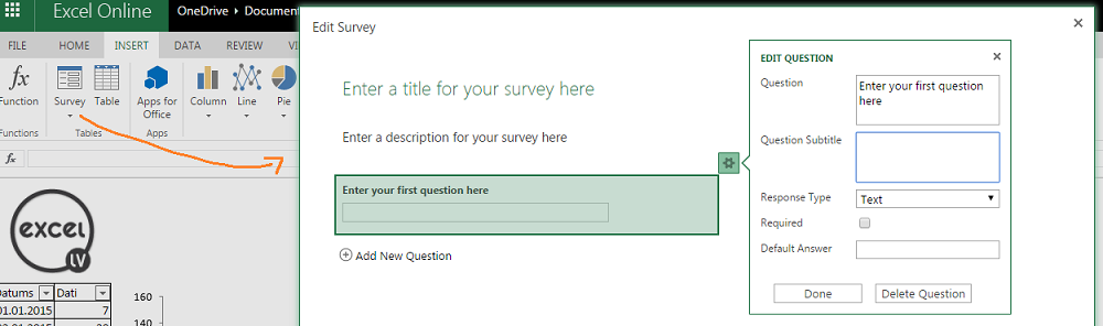 Excel-aptaujas-izveide